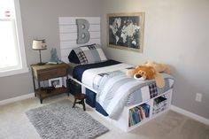 Adventure awaits! Another super cute boys room… – The Blue Hue House