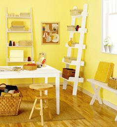 Yellow & white office color palette