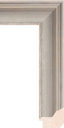 """Larson Juhl - Wood Mouldings Bergere #748430 // FinishGray Width2 3/16"""" Style Traditional Distressed Height1 3/4 Rabbet5/8"""
