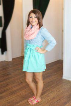 Sweeter Than Fiction Skirt-Mint at Juliana's Boutique- shopjulianas.com