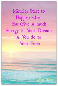 Miracles Happen...your dreams happen #miracle #dreams