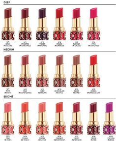 Upcoming Collections: Makeup Collections: Yves Saint Laurent: YSL Beauty Rouge Volupte Shine Collection For 2013 Lipstick Swatches, Lipstick Shades, Lipstick Colors, Lip Colors, Lipsticks, Bright Lipstick, Bright Colors, All Things Beauty, Beauty Make Up
