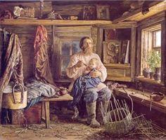 """В. М. Максимов """"Слепой хозяин"""" (1884 год)"""