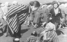 Jakubowska shows scenes of old women being beaten and kicked into ...