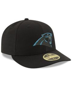 New Era Carolina Panthers Team Basic Low Profile 59FIFTY Fitted Cap - Black 7 1/4