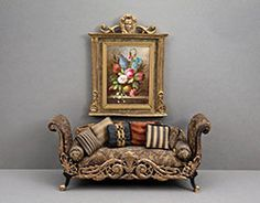 Good Sam Showcase of Miniatures: Dealer Bluette Meloney: Structures & Furniture with Faux Finishes Miniature Rooms, Miniature Houses, Miniature Furniture, Dollhouse Furniture, Small Furniture, Accent Furniture, Home Furniture, Steampunk Dolls, Steampunk Crafts