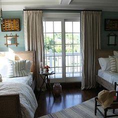 French Grain Sack Rug, Cottage, bedroom, Tammy Connor Interior Design