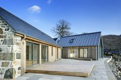 Loch Duich - Rural Design Architects - Isle of Skye and the Highlands and Island. - House Plans, Home Plan Designs, Floor Plans and Blueprints Barn House Design, Modern Barn House, Barn House Plans, Modern House Design, Cottage Design, Rural House, House In The Woods, House Property, Cottage Extension