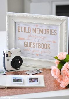 Instax Mini 70 - Photo Wedding Bridal Shower Guest Book with Fuji Instax | Kara's Party Ideas | Kara Allen 3