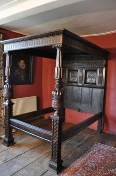 Oak Four Poster Bed - Foter