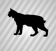 bobcat Silhouette Svg Dxf Eps Silhouette Rld RDWorks Pdf Png