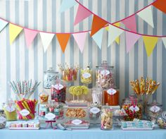 I wanna go to that party!…anyone else love sweets? Gotta love the Candy Buffet idea :)