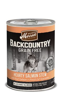 Merrick - Grain Free Back Country - Hearty Salmon Stew - Wet Dog Food - 12.7oz