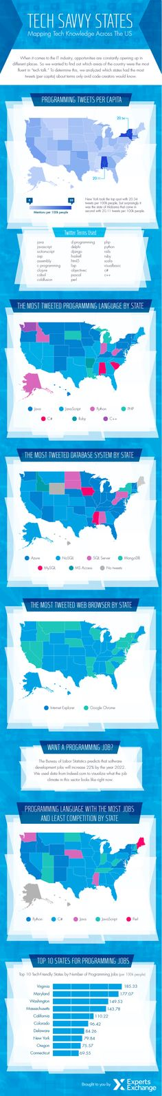 The Most Tech Savvy States in America (According to #Twitter) [INFOGRAPHIC]