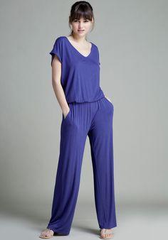 ¡No tienes que ponerte siempre lo mismo! Este #enterizo azul de #algodón es perfecto para verte diferente