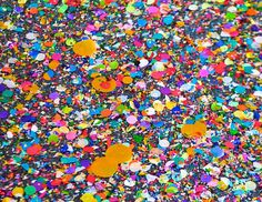 confetti floor-I love to see lots of colors together