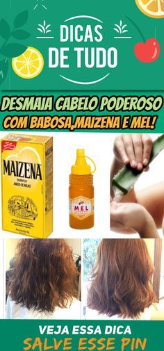 HIDRATAÇÃO com Babosa, MAISENA e Mel: DESMAIA Cabelo PODEROSO #hidratação #cabelo #maionese #maisena #mel #desmaiacabelo