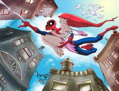 DeviantArt: More Like Spiderman + Mary Jane by NarumyNatsue