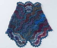 Clover Corporation Recipes | handmade | hairpin lace shawl knitted in a knitting