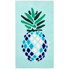 Lulu Dk for Matouk Pineapple Beach Towel found on Polyvore featuring home, bed & bath, bath, beach towels, aqua blue and matouk
