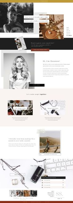 Fully customizable & easy-to-use Website Template for Ambitious online entrepreneurs! Includes a sales page designed for high-ticket programs, step-by-step video tutorials & a free pre-launch website audit! Homepage Design, Web Design Trends, Design Web, Design Layouts, Graphic Design, Design Ideas, Website Layout, Web Layout, Website Ideas