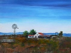 south african windmill painting - Google Search