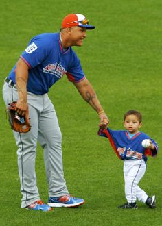 Miggy & his son Christopher during the 2013 MLB All-Star Game.