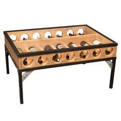 Wine Display Coffee Table... but looks like a simply DIY