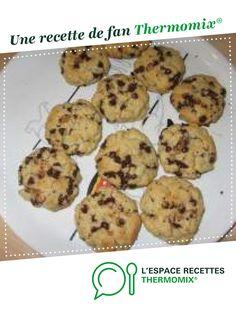 Cookies moelleux à l'américaine par Elodie2812. Une recette de fan à retrouver dans la catégorie Pâtisseries sucrées sur www.espace-recettes.fr, de Thermomix®.