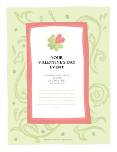 Microsoft Word Valentine's Day Event Flyer Template