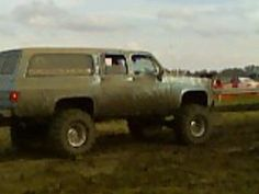 Don't worry about the mud on the truck. It's a Chevy thing