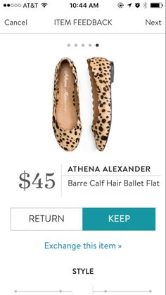 Athena Alexander Barre Calf Hair Ballet flat. I love Stitch Fix! A personalized styling service and it's amazing!! Simply fill out a style profile with sizing and preferences. Then your very own stylist selects 5 pieces to send to you to try out at home.