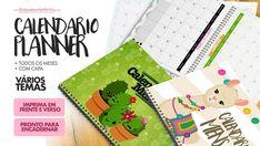 Calendario Mensal para Planner 2019 gratis para imprimir Diy Bullet Journal, Printable Planner, Printables, Planners, English Posters, Origami, Xmas Party, Unicorn Birthday, Professor