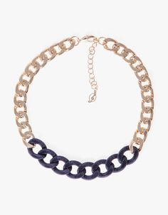 Ribbon and velvet chain necklace