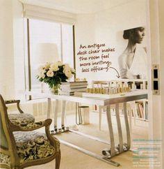 Aerin Lauder's Office at Estee Lauder via Domino