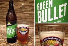 Our review of Green Flash Green Bullet Triple IPA limited release. Triple India Pale Ale brewed w/ New Zealand Pacific Gem and Green Bullet hops by Green Flash Brewing Co.
