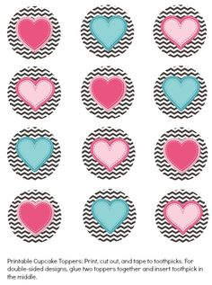 FREE Printable Valentines Cupcake Toppers - All About the Mommies #valentinesday #valentinesdaycupcakes #freebies