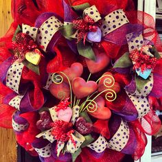 Valentine Wreath Red