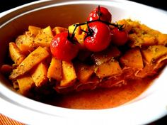 winter canelloni with pumpkin and mushrooms