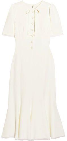 Dolce & Gabbana - Middleton Bow-embellished Cady Midi Dress - White