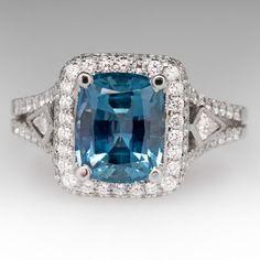 Simon G 3.8 Carat No Heat Montana Sapphire Ring 18K