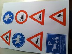 Verkeersborden voor sinterklaas