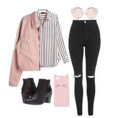 66 awesomely cute back to school outfits for high school 63 Teenage Outfits, Teen Fashion Outfits, Kpop Outfits, Mode Outfits, Look Fashion, Outfits For Teens, Trendy Outfits, Fall Outfits, Summer Outfits