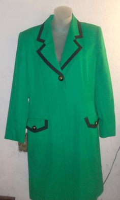 Vintage kasper Green with Black trim dress by PatsapearlsBoutique, $24.99