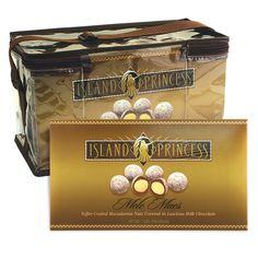 6 pack Mele Macs 7oz Box - Mele Macs are Toffee Coated Macadamia Nuts covered in Luscious Milk Chocolate.