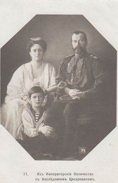 "kootyl: "" Emperor Nicholas II and Empress Alexandra Romanov with their youngest child- Tsarevich Alexei Romanov. """
