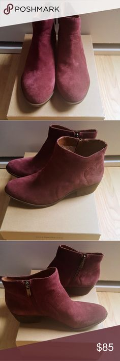 Brand New in Box Lucky Brand Brolley Booties Brand New with Tags and Box Lucky Brand Brolley Booties in Ruby Wine Size 8.5 Women's Lucky Brand Shoes Ankle Boots & Booties