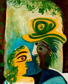 Pablo Picasso Man And Woman, 1970