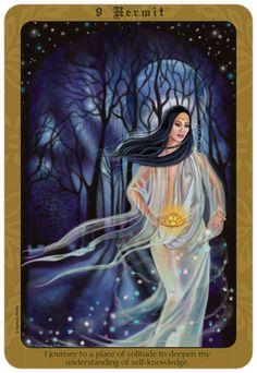 The Hermit Tarot, Love Tarot Card, The Magician Tarot, Daily Tarot, Goddess Art, Triple Goddess, Book Of Shadows, Tarot Decks, Archetypes