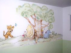 My Favorite Winnie the Pooh is Classic Style... I always wanted something like this for my babies nursery.